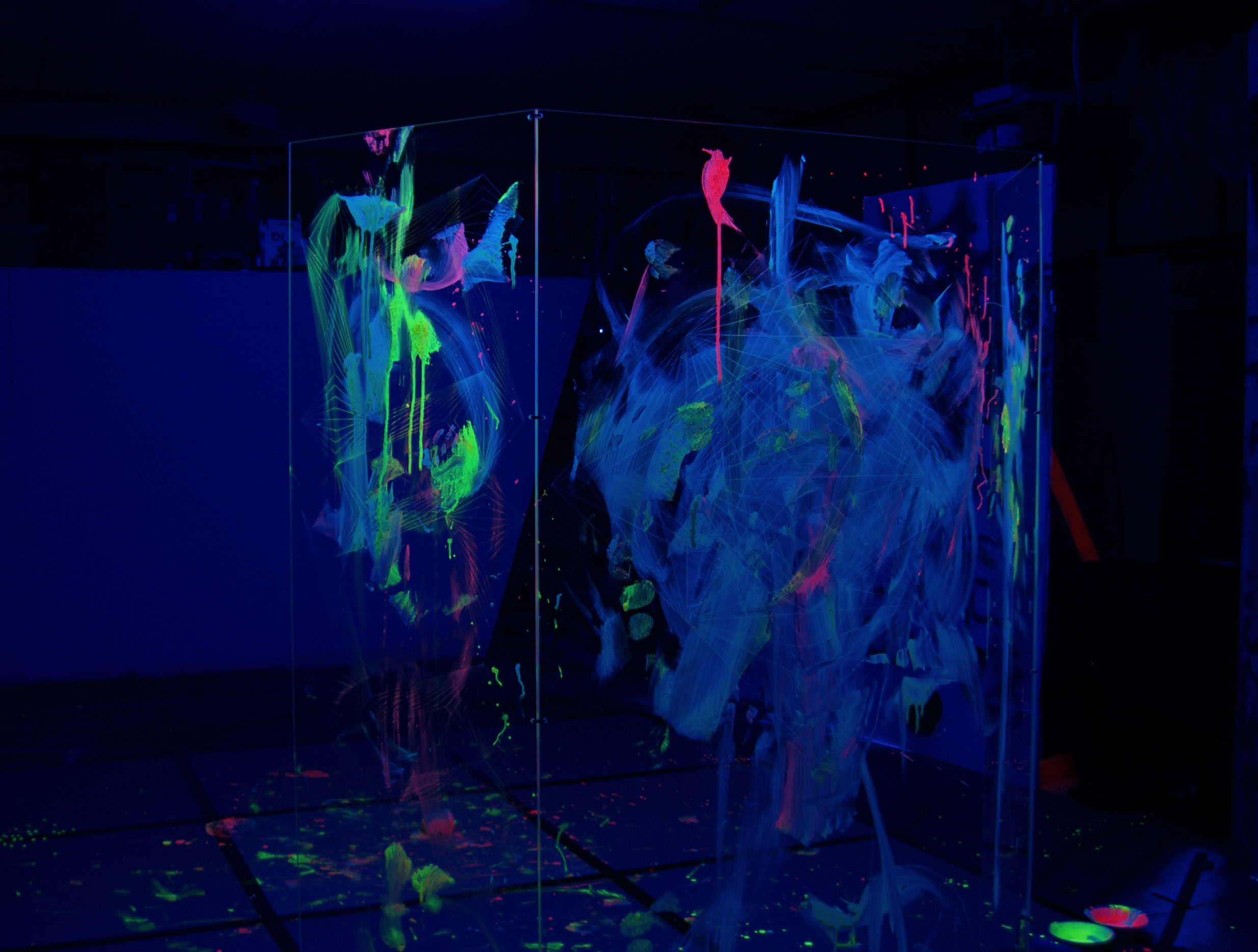 Plexi glass painted