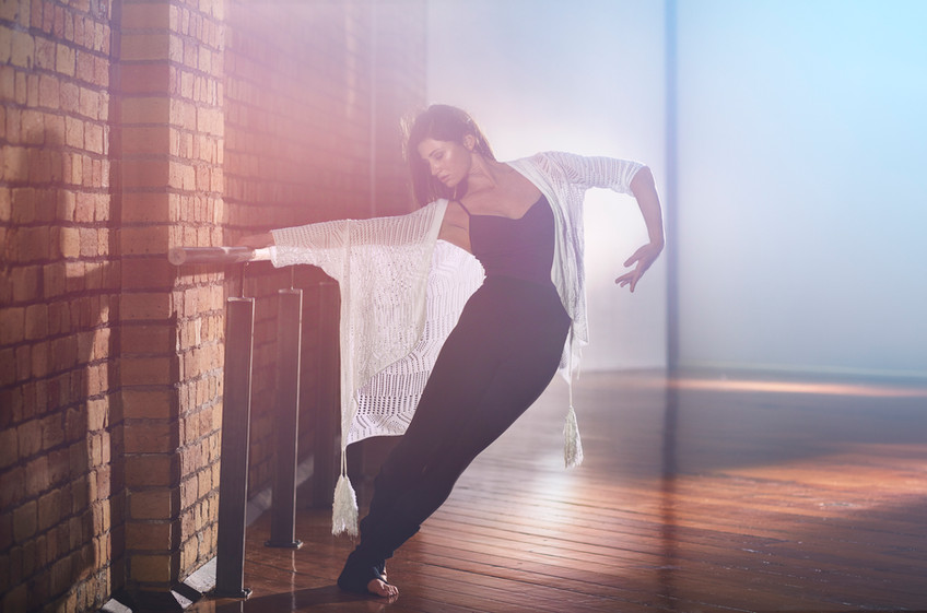 The Dance Element-Barre warrior sculpts long lean dancer-like muscles -photo Chris Sisarich