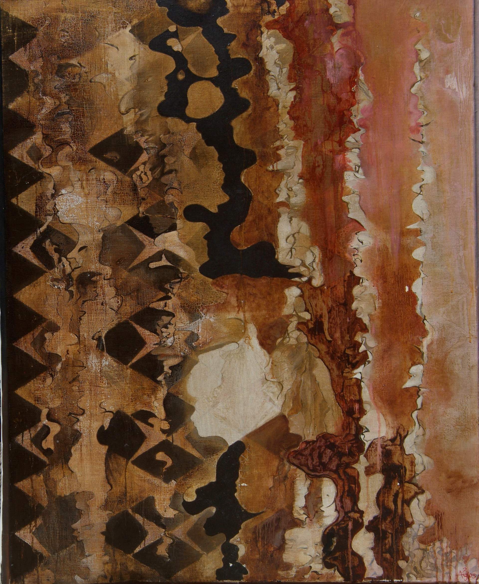 'Bach Vision', from Visual Kinesis oil on canvas 900x1200mm, 2005