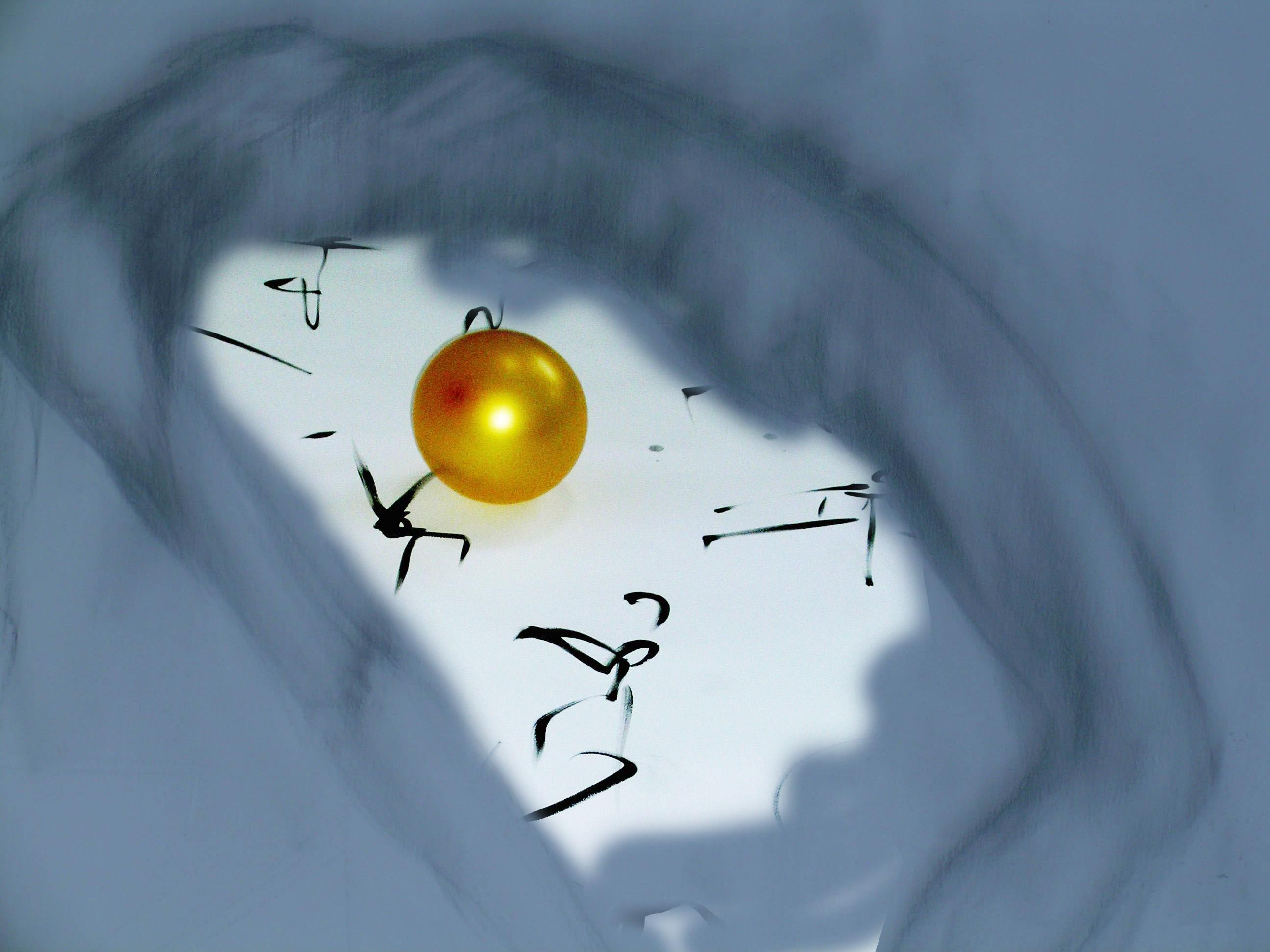 Golden Ball Calligraphy-Sketch