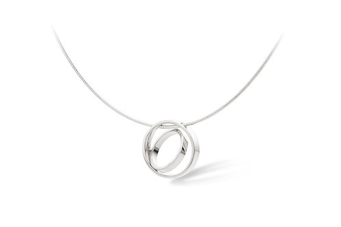 Silver necklace with circle pendant