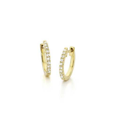 Yellow gold earrings with diamonds