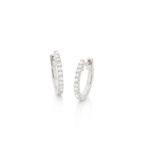 Witgouden oorbellen met diamanten