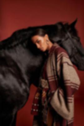 Cavallo con modelle
