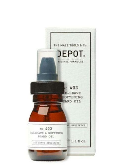 Aceite Depot pre afeitado y suavizante barba
