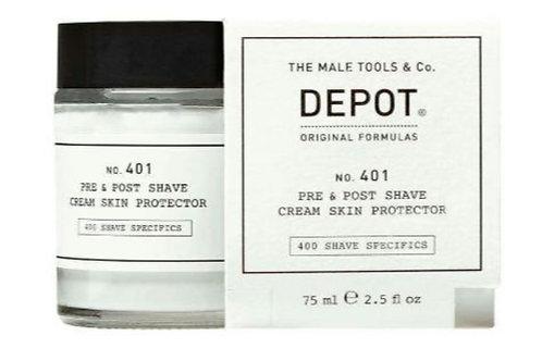 Crema protectora antes y después afeitado