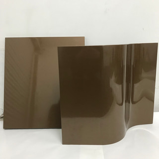 Bathroom Cabinets Wrapped In Gloss Brown