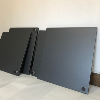 Cabinet doors wrapped in Charcoal