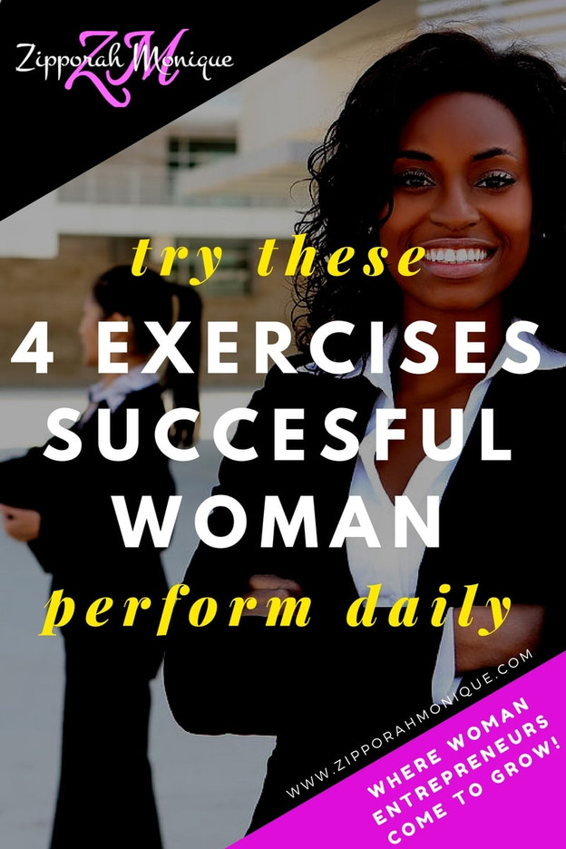 Try these 4 Exercises Successful Woman Perform Daily