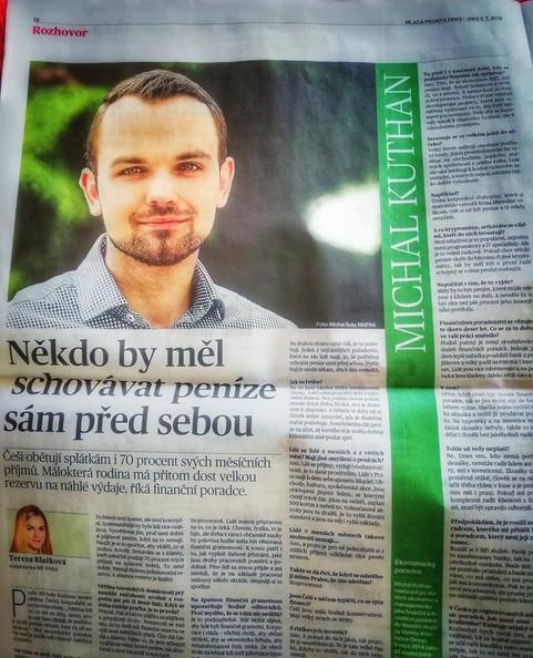 Tohoto rozhovoru v Mladé Frontě DNES si moc vážím