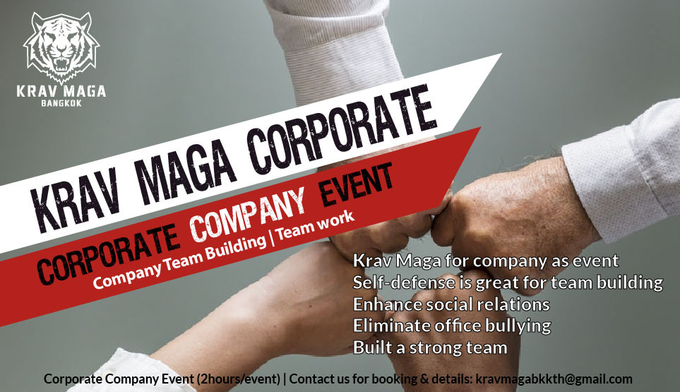Krav maga bangkok team building, krav maga for corporate company