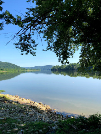 View of the Ohio River on the Kentucky side