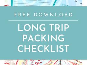 Printable Long Trip Packing Checklist