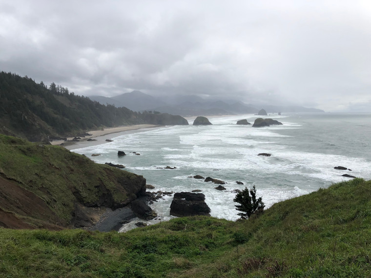 View of Cannon Beach in Oregon