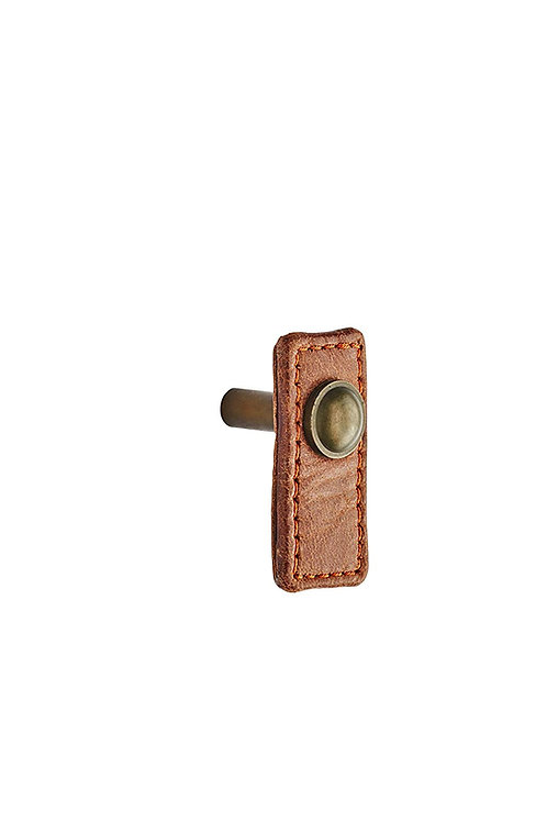 Antique Monza Leather Tab Pull/Knob (Hand Stitched Italian Leather)