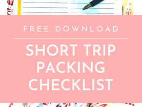Printable Short Trip Packing Checklist