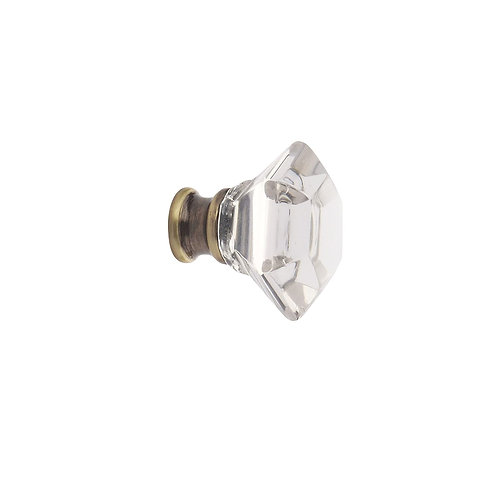 Octagonal Clear Glass Knobs