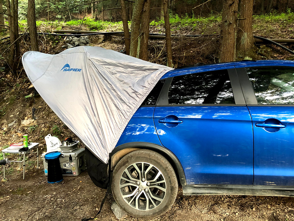 First car camping trip