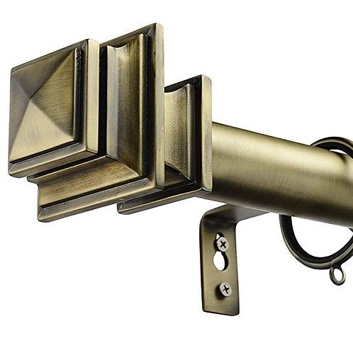 Quadrato Brass Curtain Rod