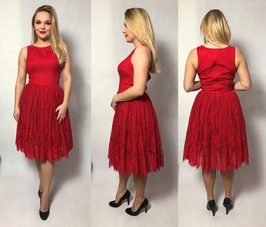 Czerwona koronkowa sukienka MOHITO rozmiar 36/38