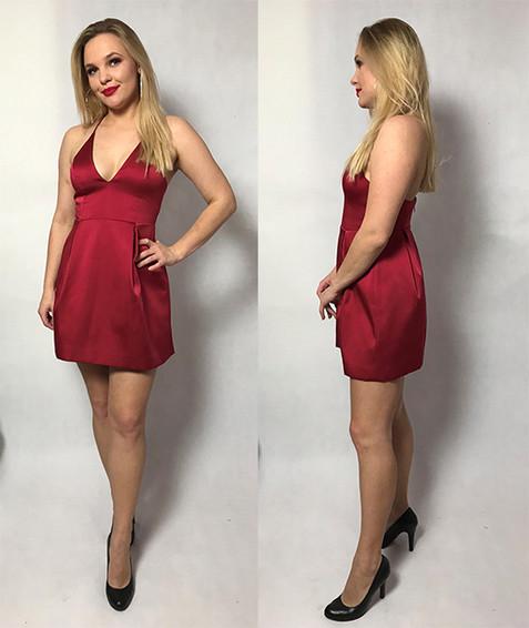 Czerwona sukienka krótka TOPSHOP ( rozmiar 38)