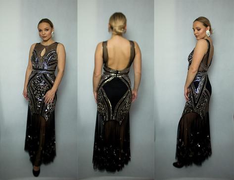 Długa suknia koktajlowa ASOS rozmiar 38