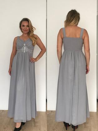 Długa szara sukienka w rozmiarze 38/40.