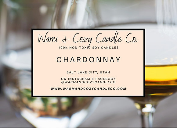 Chardonnay 100% Soy Candle