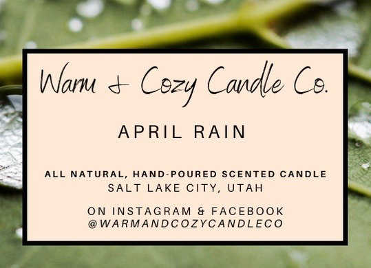 April Rain 100% Soy Candle