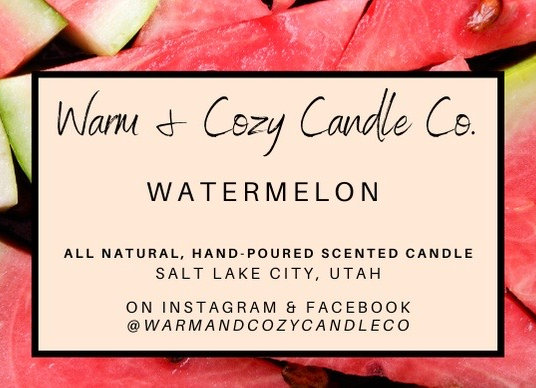 Watermelon 100% Soy Candle