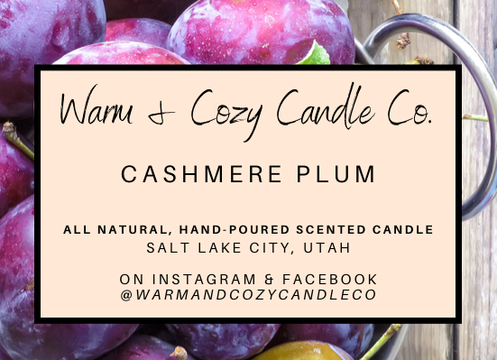 Cashmere Plum 100% Soy Candle