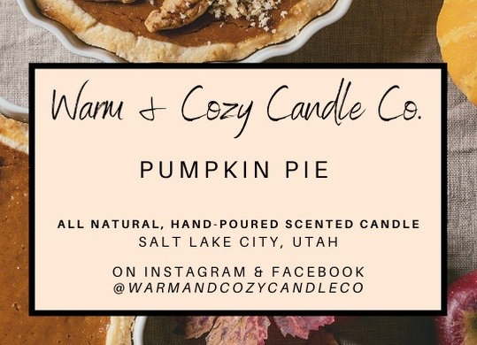 Pumpkin Pie 100% Soy Candle