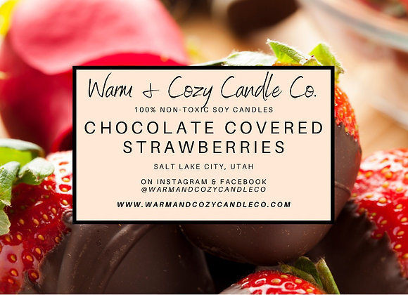 Chocolate Covered Strawberries 100% Soy Candle