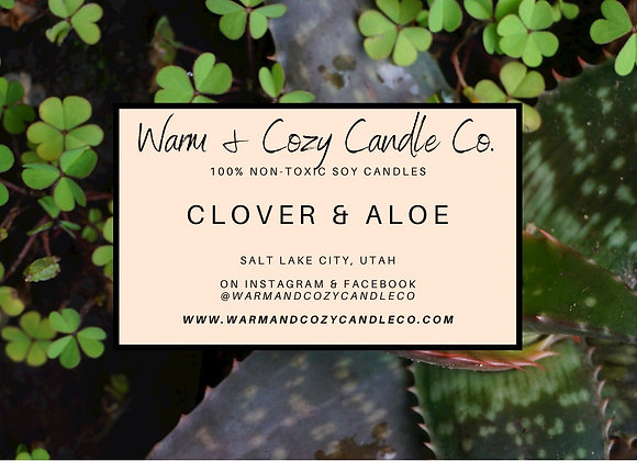 Clover & Aloe 100% Soy Candle