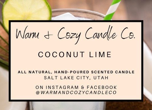 Coconut Lime 100% Soy Candle
