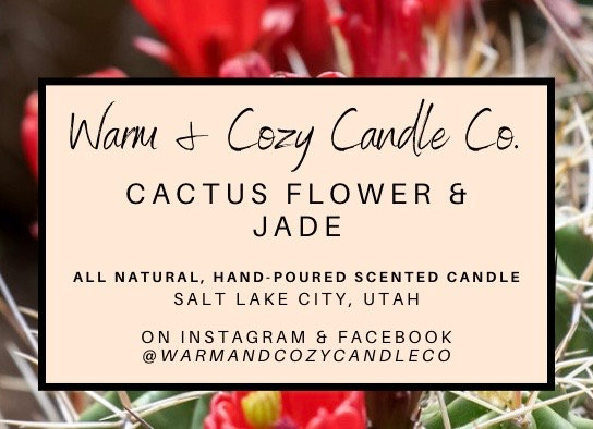 Cactus Flower & Jade 100% Soy Candle