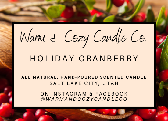 Holiday Cranberry 100% Soy Candle