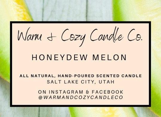 Honeydew Melon 100% Soy Candle