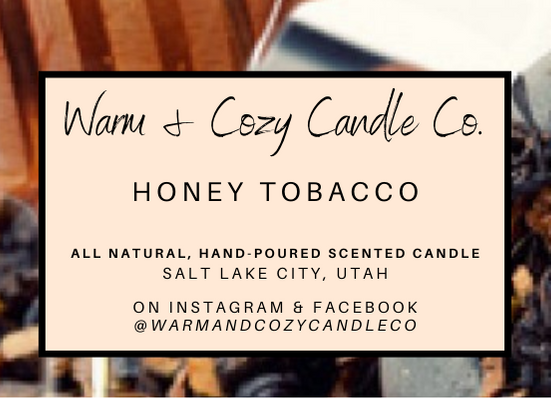 Honey Tobacco 100% Soy Candle