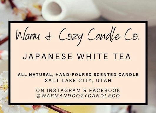 Japanese White Tea 100% Soy Candle