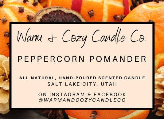 Peppercorn Pomander 100% Soy Candle