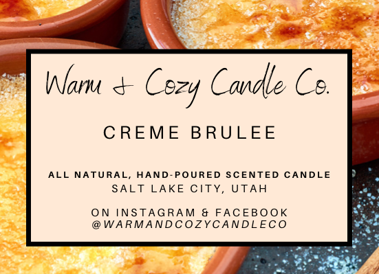 Creme Brulee 100% Soy Candle