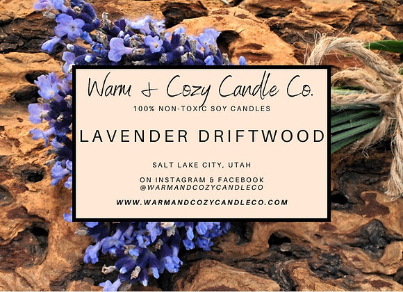 Lavender Driftwood 100% Soy Candle