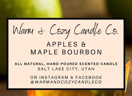 Apples & Maple Bourbon 100% Soy Candle