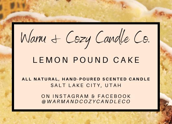 Lemon Pound Cake 100% Soy Candle