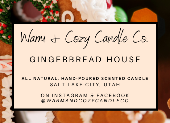 Gingerbread House 100% Soy Candle