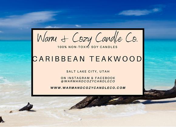 Caribbean Teakwood 100% Soy Candle