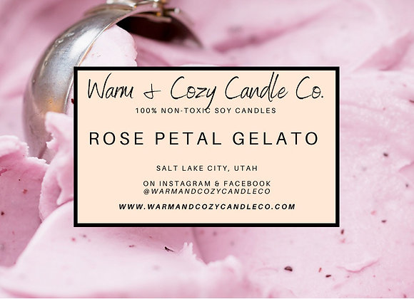 Rose Petal Gelato 100% Soy Candle