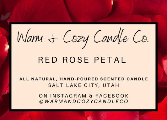 Red Rose Petal 100% Soy Candle