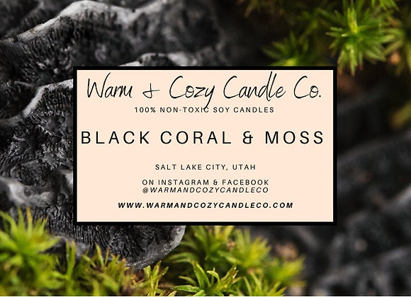Black Coral & Moss 100% Soy Candle
